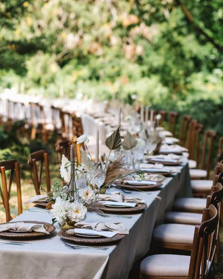 micro wedding venues long table in woods debsalexanderphoto