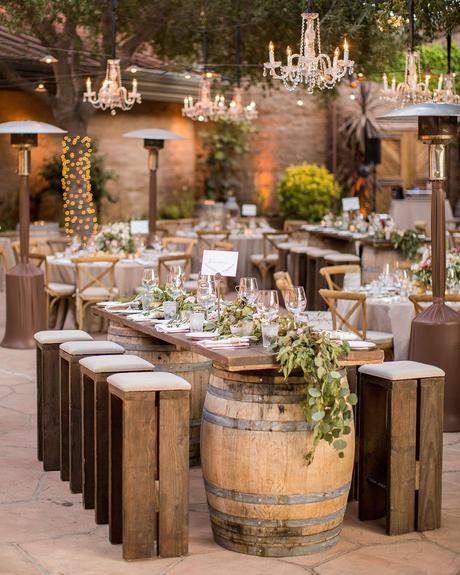 micro wedding venues backyard winebarrel table anna j photography