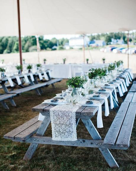 micro wedding venues reception table in park sarah morrill photography