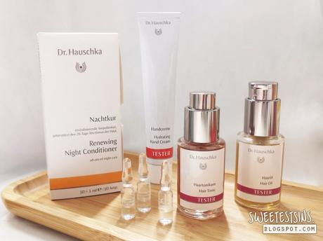 My Night-time skincare routine with Dr Hauschka