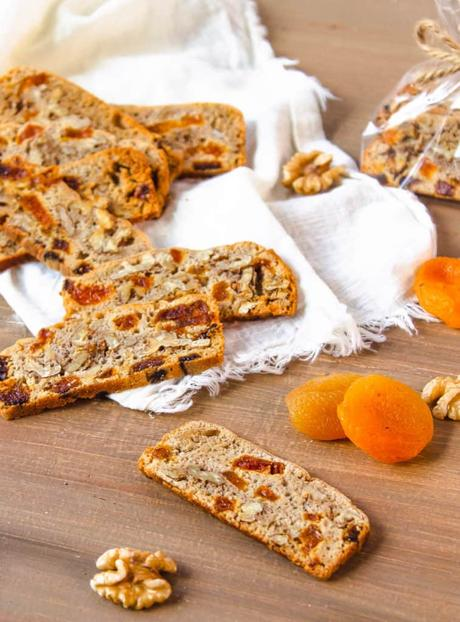 Gluten Free Biscotti with Apricots and Walnuts
