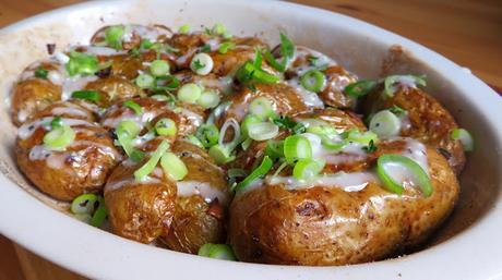 Buffalo Crispy Baked Potatoes