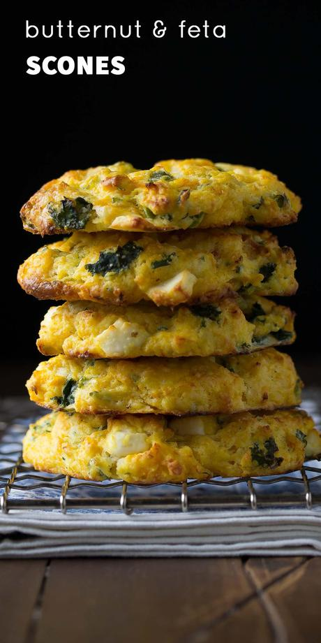 a stack of four butternut squash scones
