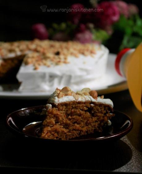 eggless carrot cake recipe | carrot cake in pressure cooker