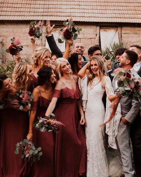 lucky wedding dates guests-bridesmaids
