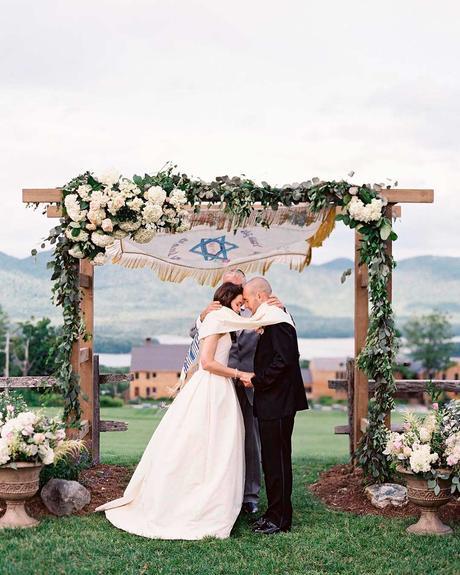 lucky wedding dates arch ceremony bride groom