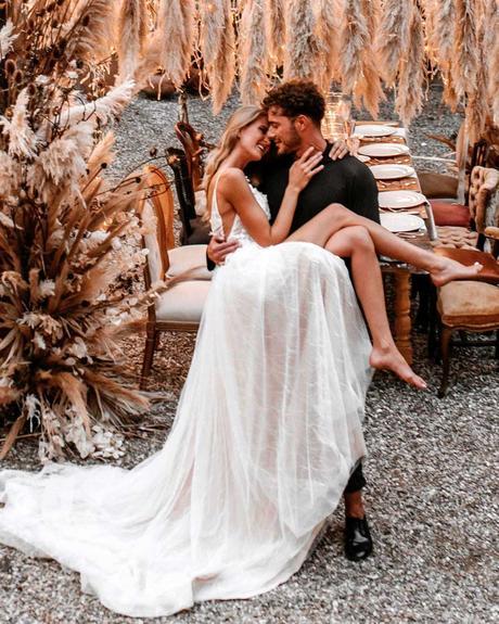 lucky wedding dates bride groom couple