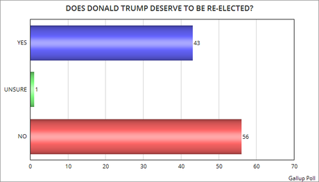 56% of Americans Say Trump Doesn't Deserve Re-Election