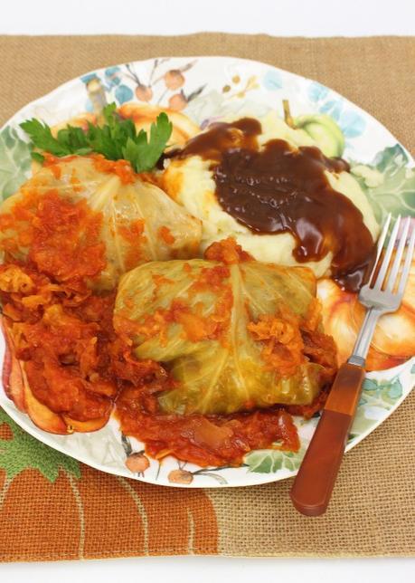 Sauerkraut Cabbage Rolls (Slow Cooker)