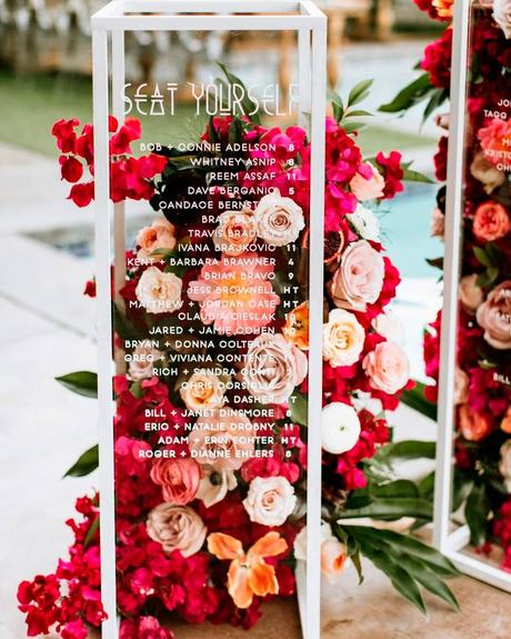how to choose wedding colors setting chart flowers