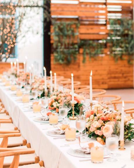 how to choose wedding colors winter peach forest green matallic