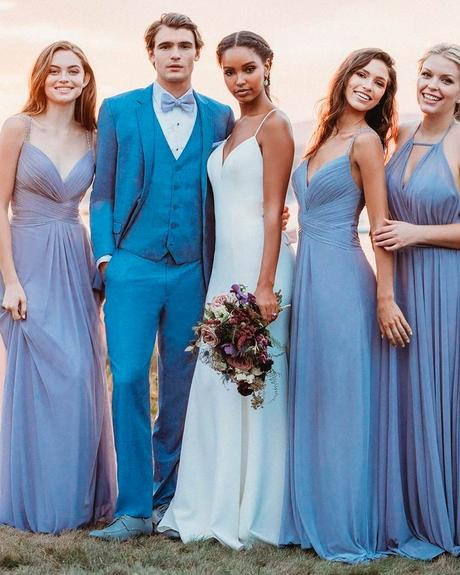 how to choose wedding colors white dusty blue orchid