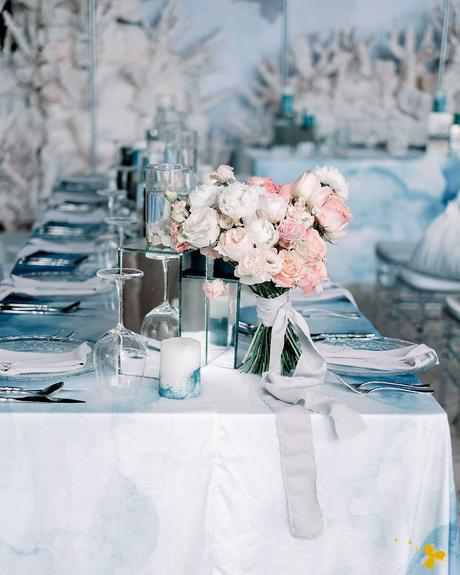 how to choose wedding dusty blue white spring