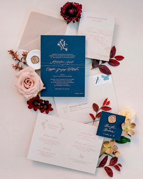how to choose wedding colors fall hot maroon cameo pink aegean blue