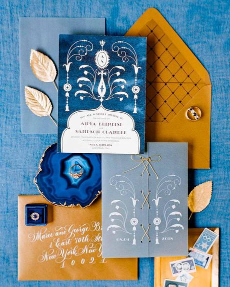 how to choose wedding colors summer classy blue beige gray invitations