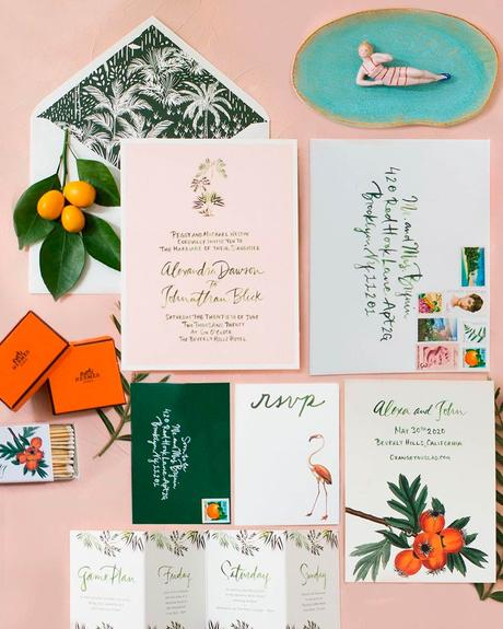 how to choose wedding colors stationery