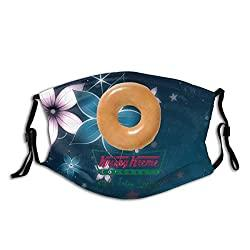 Image: Made in USA Get A Krispy Kreme Donut Adult Halloween Designed Adult Masks, Windproof Masks, Suitable For Picnics, Camping, And Running | Brand: CAONIMA