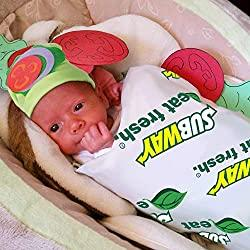 Image: Baby Halloween Costumes - Sandwich Blanket Costume with Hat - Photography Props for Newborn Pictures Infant Boy Girl 0-3 6-9 12-18 Months | ORIENTAL CHERRY Store