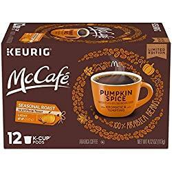 Image: McCafé Pumpkin Spice Light Roast K-Cup Coffee Pods (12 Pods) | Visit the McCafé Store