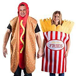 Image: Tigerdoe Hotdog and French Fries Couple Costume - Halloween Funny Costume - Food Costume - Novelty Costumes - 2 Pc Set