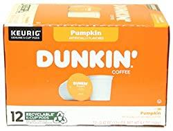 Image: Dunkin Donuts K-Cups Pumpkin Flavor - Box of 12 Kcups for use in Keurig Coffee Brewers | Brand: MCtraddy