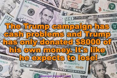 His Campaign Has Cash problems & Trump Is NOT Donating