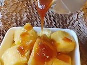 Steam Tapioca with Coconut Caramel Sauce