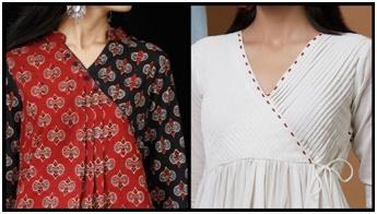 Angrakha Neckline Kurtis From Megha Shop