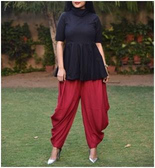 Cowl Neck Design Kurtis from Megha Shop Jaipur
