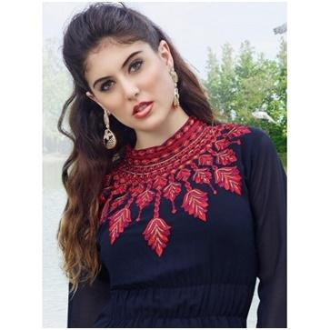 Jewel Neckline Kurtis from Megha Shop Jaipur