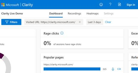 Microsoft Clarity: a Free Visitor Behavior Analytics