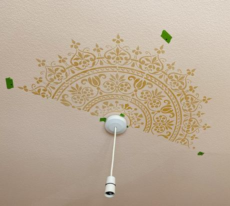 Ceiling medallion stencil from The Stencil Library