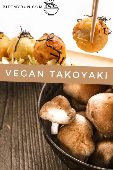 Vegan takoyaki with shiitake
