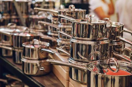 Beautiful clean stainless steel pans