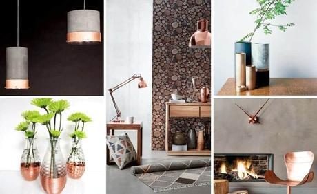 Copper interior design