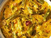 Malai Dahi Bhindi Recipe+Video