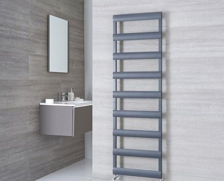 Milano Passo anthracite heated towel rail