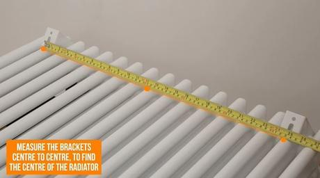 measuring the center of a radiator