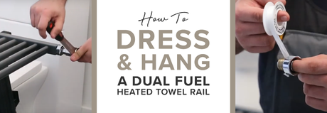 How to dress and hang a dual fuel htr blog banner