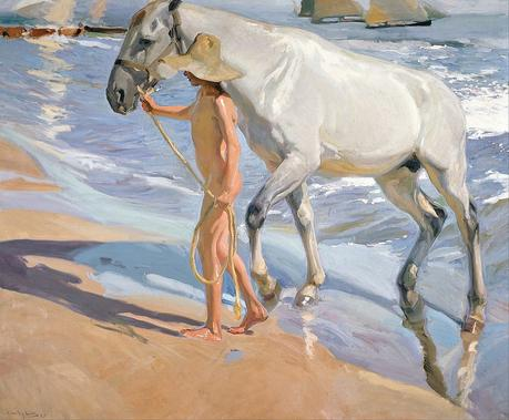 1309px Joaquín Sorolla y Bastida The Horses Bath Google Art Project