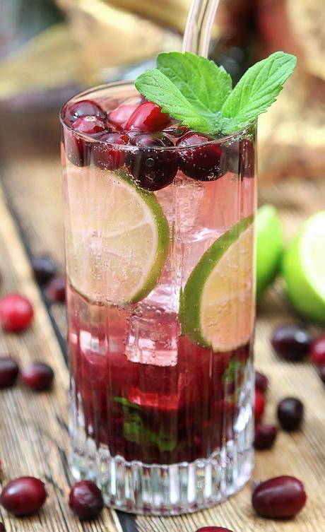 Cranberry Sauce Mojito Cocktail