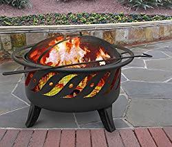 Image: Landmann USA 23172 Patio Lights Firewave Firepit, Black