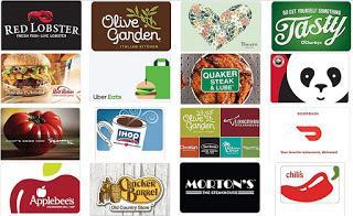 Restaurant Gift Cards on Amazon