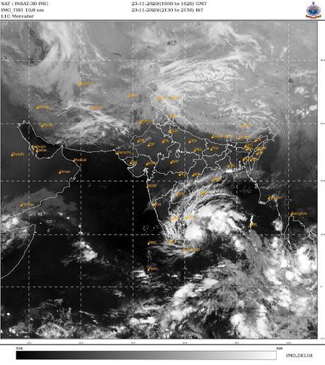 Cyclone Nivar brings rains to Chennai - floods washed through  Mars 4 billion years ago !!