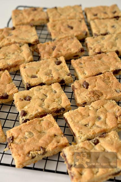 quick easy chocolate chip walnut cookie slices