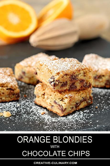 Best Chocolate Chip Blondies with Orange Zest