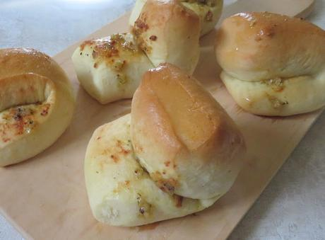 Garlic Parker House Rolls