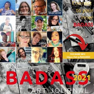 I am teaching on the BADASS Art Journal Course!