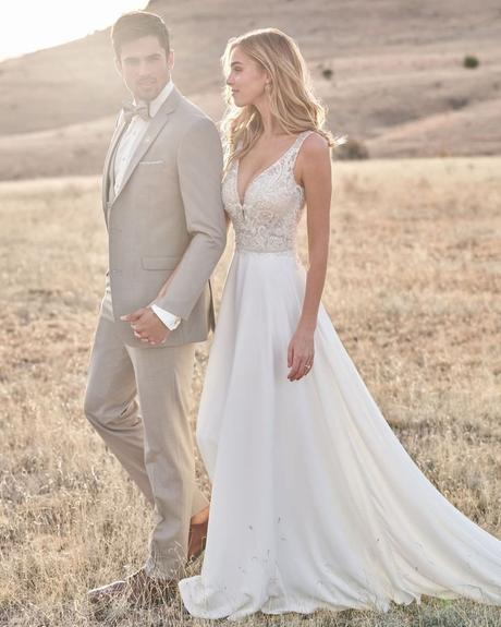 rustic wedding dresses a line lace top country barn allurebridals