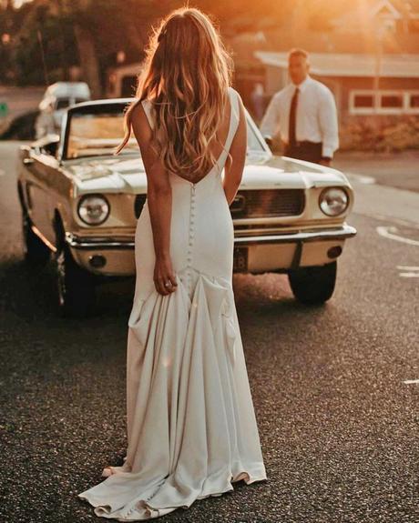 rustic wedding dresses sheath low back simple beach allurebridals